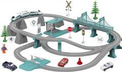 Электрическая железная дорога ZIPP Toys Городской экспресс 103 детали Зеленая (5320054)