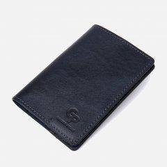 Обложка для паспорта кожаная Grande Pelle leather-11479 Темно-синяя