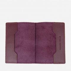 Обложка для паспорта кожаная Grande Pelle leather-11482 Бордовая