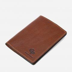 Обложка для паспорта кожаная Grande Pelle leather-11485 Коричневая
