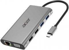 Док-станция Acer 11в1 Type C dongle: 2xUSB3.0, 2xUSB2.0, 1xHDMI, 1xUSB-C PD, 1xSD, 1xRJ 45, 1x3.5 Audio (HP.DSCAB.010)