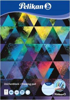 Альбом для рисования Pelikan A4 20 листов 120 г Colorsplash (236782C)