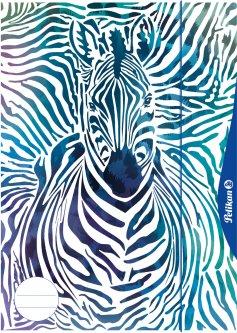 Альбом-папка 2 в 1 Pelikan А3 10 листов 100 г Zebra (238205)