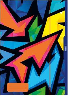 Папка картонная на резинке Herlitz А3 Neon Art (50028009)
