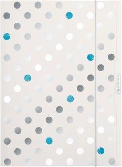 Папка на резинке картонная Herlitz А4 Frozen Glam серебристая (50028016)