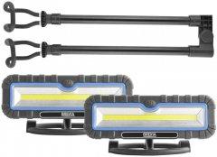 Профессиональная инспекционная лампа Brevia LED 120-190см 2x10W COB 2x1000lm 2x4000mAh Power Bank type-С (11520)