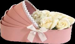 Подарочная коробка Ufo Pink картонная Розовая (W9297 33*17*8 PINK колыбель)