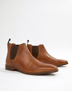 Чоловічі демісезонні шкіряні черевики челсі Red Tape 43 коричневий
