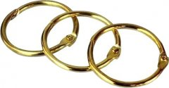 Кольцо металлическое для переплета bindMARK 19.05 мм золото 100 шт (2000032012017)