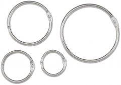 Кольцо металлическое для переплета bindMARK 60.33 мм серебро 25 шт (2000032007013)