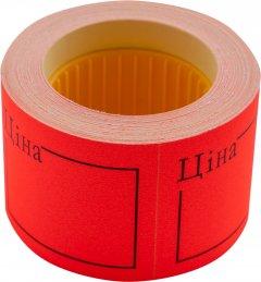 """Этикет-лента Buromax """"Цена"""" 50 х 40 мм 150 этикеток прямоугольная внешняя намотка 10 шт Красная (BM.282109-05)"""