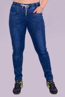 Джинси стрейч жіночі з шнурком на поясі Золото А785-3 2XL. Розмір 48-50