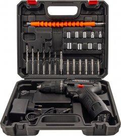 Аккумуляторный шуруповерт Pracmanu с насадками Черный (LP10169)
