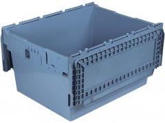 Ящик пластиковый Полимерцентр N8642-ALC тип 1 с крышкой 800х600х440 мм Маренго (N8642-ALC-59PT1)