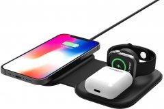 Беспроводное зарядное устройство Ailink Dock Wireless Charger Pad H-line 3 в 1 (AI-DPadH-line-3in1bk)