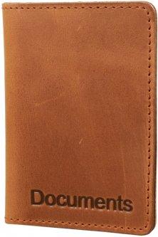 Женская обложка для документов кожаная DNK Leather DNK-minidoc-fileH-colN Коричневая (2900000094574)