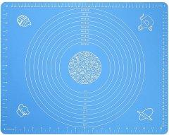 Коврик силиконовый Kitchenio с разметкой Голубой 40 х 50 см (2000992410557)