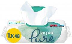 Детские влажные салфетки Pampers Aqua Pure 48 шт (8001090603326)
