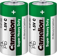 Батарейка Camelion R14 / 2 Shrink Green 2 шт (R14P-SP2G)