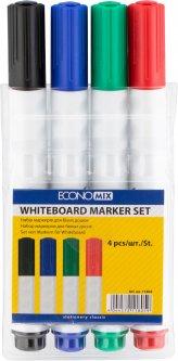 Набор маркеров для белых досок Economix 2-3 мм в блистере 4 шт (E11805)