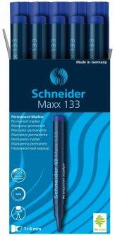 Набор маркеров перманентных Schneider Maxx 133 1-4 мм Синий 10 шт (S113303)