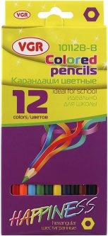 Карандаши цветные VGR Happyness 12 цветов (Я17411_10112B-B)