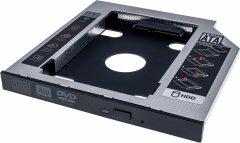 Адаптер подключения Grand-X HDD 2.5'' 12.7 мм в отсек привода ноутбука SATA/SATA3 (HDC-25C)