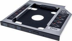 Адаптер подключения Grand-X HDD 2.5'' 9.5 мм в отсек привода ноутбука SATA/SATA3 Slim (HDC-24C)