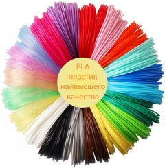 Пластик для 3D ручки MyRiwell PLA 200 метров 20 цветов (QT-PLA200)