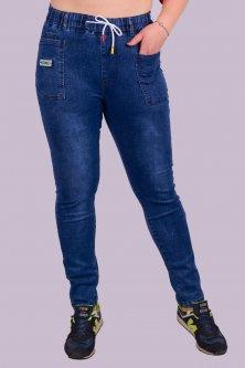 Джинси жіночі з прямокутними кишенями на шнурку Золото A785-7 2XL. Розмір 48-50