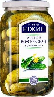 Огурцы Нежин (Ніжин) консервированные по-нежински 920 г (4823006801800)