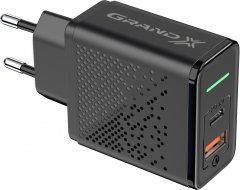 Зарядное устройство Grand-X Fast Сharge 6-в-1 PD 3.0, QС3.0, AFC, SCP, FCP, VOOC 1 USB + 1 TypeC 18 Вт CH-880