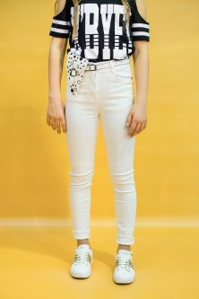 Джинси A-yugi Jeans 164 см Білий (2125000659398)