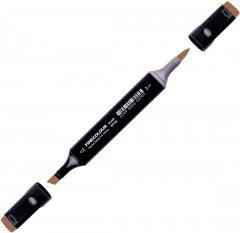 Маркер Finecolour Brush спиртовой 437 темно-коричневый E437 (EF102-437N)
