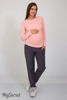 Модні штани boyfriend для вагітних My Secret Keira S Сірий TR-37.052