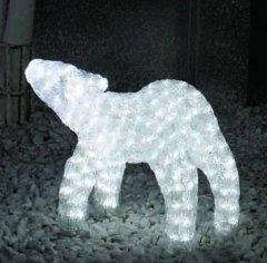 Новогодняя светодиодная декорация Scorpio Олень 42х35 см Белая (560231) (4820005602315)