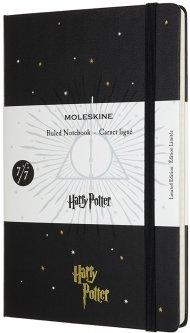 Записная книга Moleskine Harry Potter 13 х 21 см 240 страниц в линейку 7/7 Черная (8053853604002)