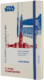 Записная книга Moleskine Star Wars 13 х 21 см 240 страниц в линейку X-Wing (8053853603753)