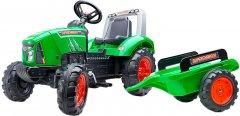 Детский трактор на педалях Falk Claas Arion с прицепом Зеленый (2021AB)