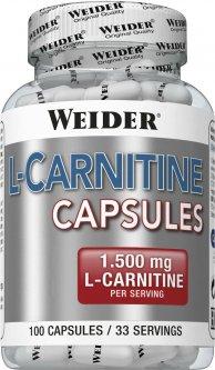 Жиросжигатель Weider L-Carnitine 1500 100 капсул (4044782385715)