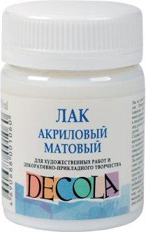 Лак акриловый Невская палитра Decola матовый 50 мл (4690688001060)