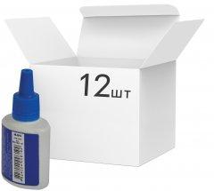 Упаковка штемпельной краски Buromax на водной основе Синяя 30 мл х 12 шт (BM.1901-01)