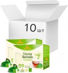 Упаковка заменителя сахара Стевиясан Бактосила 40 г х 10 шт (4820158920663)