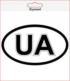 """Наклейка на автомобиль XoKo """"UA"""" 2 шт (XK-UA1)"""