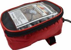 Велосипедная сумка на раму Poputchik под смартфон усиленная 20х12х10 см Красная (MFV63306-005)