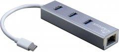 Адаптер Argus USB 2.0/3.0/Type C - RJ45 LAN c USB-хабом (IT-410-S)