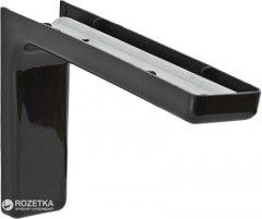 Уголок монтажный DC металлический + пластиковая накладка 180 мм Черный (DC12422)