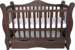 Детская кроватка Angelo Lux-10 Темный орех (11030)