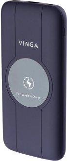 УМБ Vinga Wireless QC3.0 PD Soft Touch 10000 mAh Purple (BTPB3510WLROP)