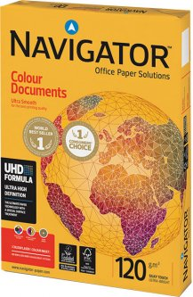 Бумага офисная Navigator Colour Documents A4 120 г/м2 класс A 250 листов Белая (5602024104891)